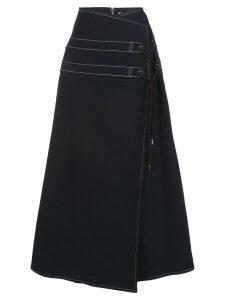 Adeam A-line wrap skirt - Black