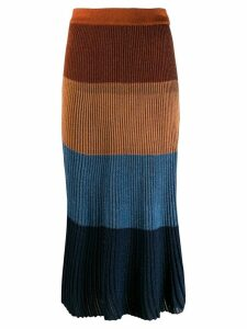 Marco De Vincenzo ribbed skirt - Blue