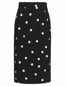 Dolce & Gabbana Cady polka-dot pencil skirt - Black