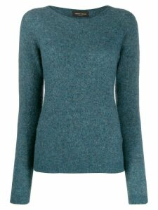 Roberto Collina knitted cashmere jumper - Blue