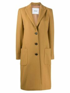 Dondup classic single-breasted coat - Neutrals