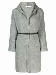 Fabiana Filippi hooded coat - Grey