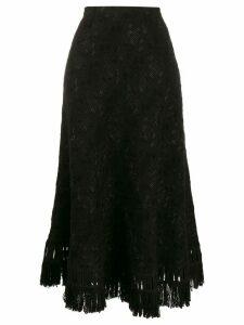 Ermanno Scervino tweed midi skirt - Black