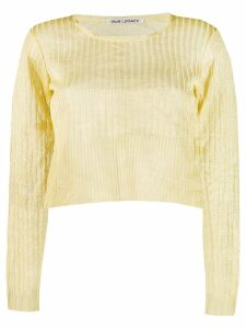 Our Legacy cropped jumper - Yellow