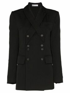 Delada double-breasted button blazer - Black