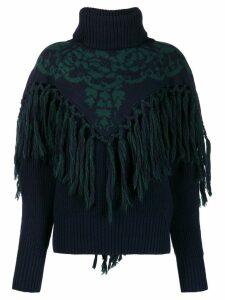 Sacai roll neck sweater - Blue