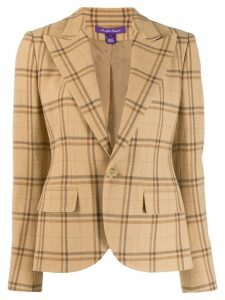 Ralph Lauren Collection slim-fit plaid blazer - Brown