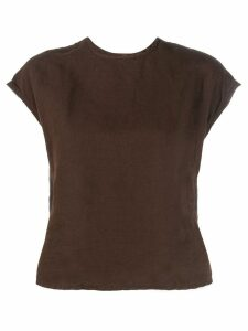 Our Legacy back buttons T-shirt - Brown