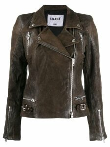 S.W.O.R.D 6.6.44 fitted biker jacket - Brown