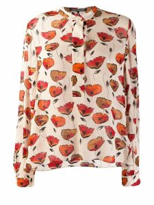 Luisa Cerano Poppy print blouse - Neutrals