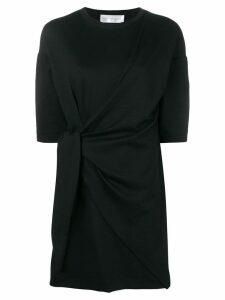 Victoria Victoria Beckham tie front shirt dress - Black
