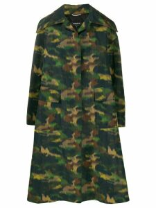 Rochas oversized printed coat - Green