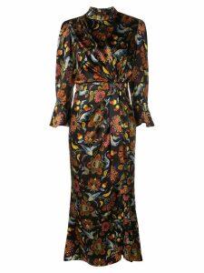 Cinq A Sept floral print midi dress - Black