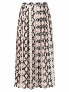 SLY010 snakeskin effect skirt - Neutrals
