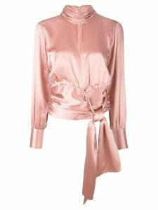 Cinq A Sept wrap waist blouse - Pink