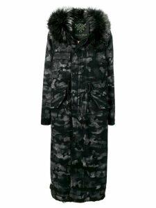 Mr & Mrs Italy camouflage pattern padded jacket - Black