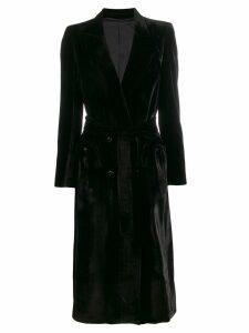 Blazé Milano belted velvet coat - Black