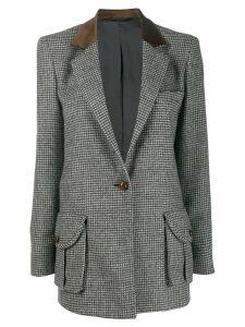Blazé Milano houndstooth print blazer - Blue