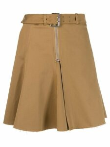 Alexa Chung buckled waist skirt - NEUTRALS