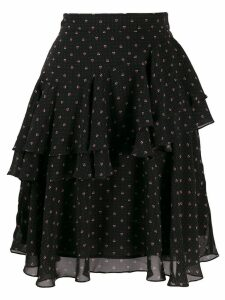 Alexa Chung short ruffled skirt - Black
