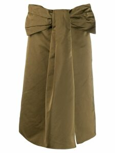 Rochas bow waist skirt - Green