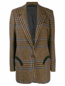 Blazé Milano checked single-breasted blazer - Brown