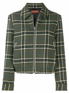 Alexa Chung zip-up check jacket - Green