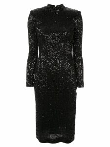 Rebecca Vallance glitter fitted dress - Black