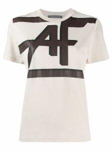 Alberta Ferretti logo print crew neck T-shirt - Neutrals
