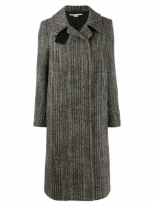 Stella McCartney Chevron wool coat - Black