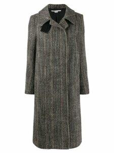 Stella McCartney Chevron wool coat - Black