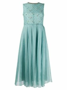 Red Valentino silk-organza crystal embellished dress - Blue
