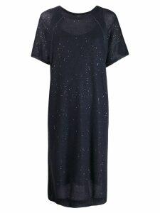 Brunello Cucinelli knitted midi dress - Blue