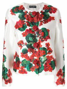 Dolce & Gabbana Portofino print mikado jacket - White