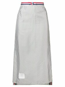 Thom Browne Bemberg Ankle-Length Slip Skirt - Grey