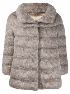 Herno knitted puffer jacket - Neutrals