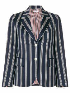 Thom Browne Repp Stripe Narrow Sport Coat - Blue