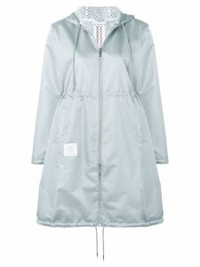 Thom Browne Center Back Long Hooded Parka - Grey
