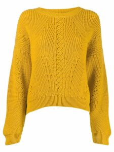 Alberta Ferretti cut-out detail knit sweater - Yellow