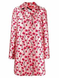 be blumarine floral print midi coat - Pink