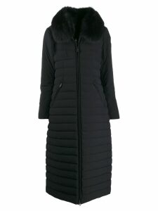 Peuterey collar padded coat - Black