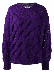Isabel Marant Étoile chunky interlock knit jumper - Purple