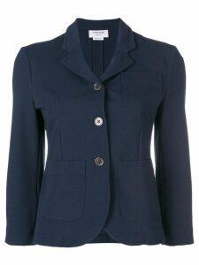 Thom Browne Double-Knit Tech Sport Coat - Blue