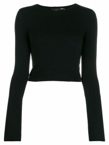 Alice+Olivia fine knit cropped jumper - Black