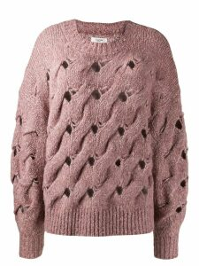 Isabel Marant Étoile chunky interlock knit jumper - Pink