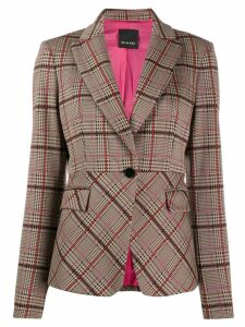 Pinko check fitted blazer - NEUTRALS