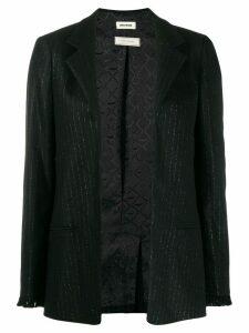 Zadig & Voltaire lurex pinstripe blazer - Black