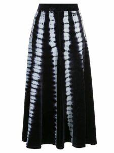 Proenza Schouler Tie Dye Velvet Skirt - Blue