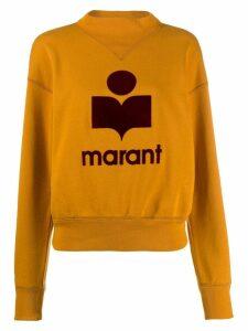 Isabel Marant Étoile logo print sweatshirt - Yellow