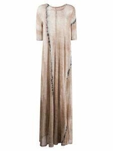 Raquel Allegra tie dye maxi dress - Neutrals